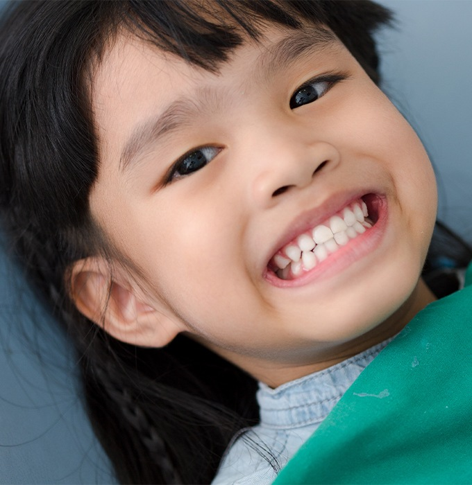 Smiling child during dental visit